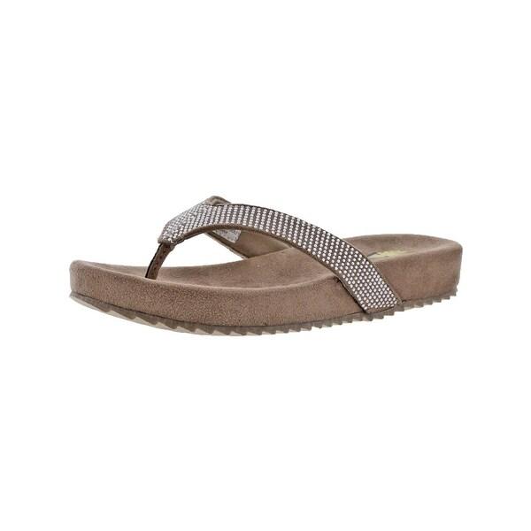 Volatile Womens Jania Flip-Flops Thong Rhinestone