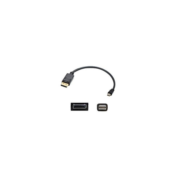 AddOn MINIDP2DPMM6 AddOn 1.82m (6.00ft) Mini-DisplayPort Male to DisplayPort Male Black Adapter - 100% compatible with select
