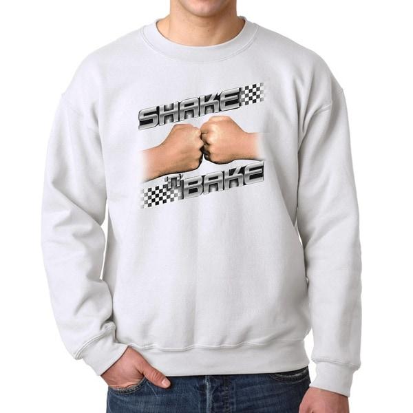 Talladega Nights Shake and Bake Checker Men's White Sweatshirt