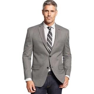 Michael Kors Mens Regular Fit Neat Sportcoat 40 Regular Black and White Blazer