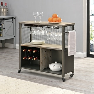 Link to FirsTime & Co.® Chandler Farmhouse Kitchen Cart, Wood, 31.5 x 12 x 31.5 in, American Designed - 31.5 x 12 x 31.5 in Similar Items in Home Bars