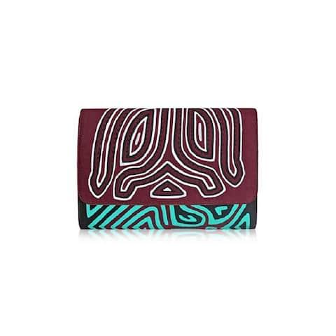 Mola Sasa Anmar Purple Cotton Clutch