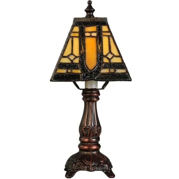 Meyda Tiffany 142878 Sierra Prairie Mission 1 Light 12 Tall Hand Crafted Table