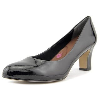 Ros Hommerson Valeda Women N/S Round Toe Patent Leather Black Heels
