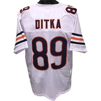 468465e6e Mike Ditka unsigned White TB Custom Stitched Pro Style Football Jersey XL