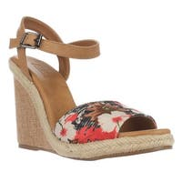 Dolce by Mojo Moxy Posey Espadrille Wedge Sandals, Black - 8 us