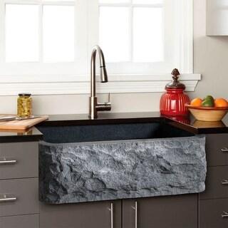 """Signature Hardware 908281-24 24"""" Single Basin Granite Farmhouse Sink for Undermo"""