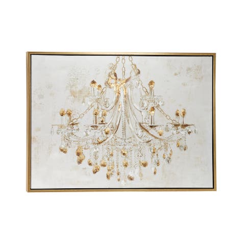 """47.5"""" x 35.5"""" Large Chandelier Canvas Print and Acrylic Painting Wall Art"""
