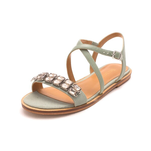Enzo Angiolini Womens Jewelana Open Toe Casual Ankle Strap Sandals - gree/grny - 7.5