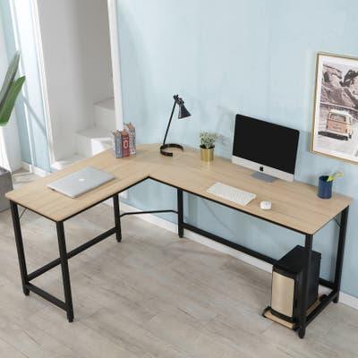 Porch & Den Zurich L-Shaped Desk Corner Computer Desk