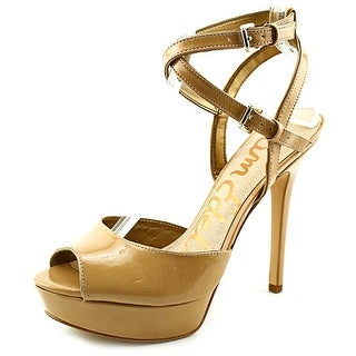 Sam Edelman Nadine Women Open Toe Synthetic Nude Platform Heel