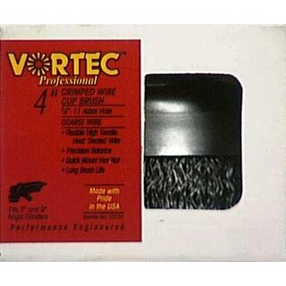 """Weiler 36036 Vortec-Pro Crimped Wire Cup Brush, 4"""""""