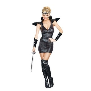 Sexy Medieval Warrior Of Darkness Costume Dress Adult