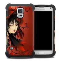 DecalGirl  Samsung Galaxy S5 Bumper Case - Black Flower