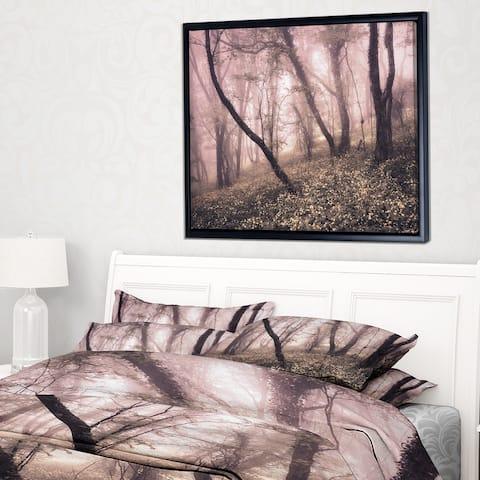 Designart 'Vintage Autumn Landscape' Contemporary Framed Canvas Art Print