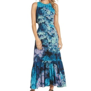 Maggy London Womens Petite Printed Cutout Maxi Dress