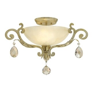 Fredrick Ramond FR44104 3 Light Semi-Flush Ceiling Fixture from the Barcelona Collection