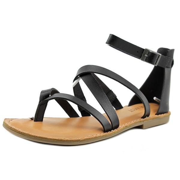 Nine West Jessaboo Women Open Toe Synthetic Black Gladiator Sandal