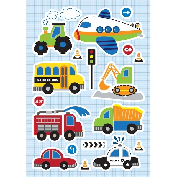 Brewster CR-18108 Variable Sized - Traffic - Self-Adhesive Repositionable Vinyl Wall Decal - Set of 18