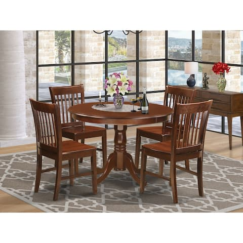 HLNO5-MAH 5 Pc set with a Kitchen Table and 4 Dinette Chairs