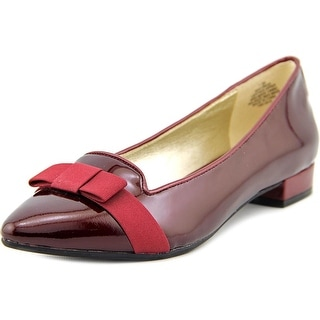 Anne Klein Kyrena Women Pointed Toe Patent Leather Flats