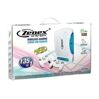 Zenex 135-In-1 Retro TV Wireless Game System With 2 Controllers