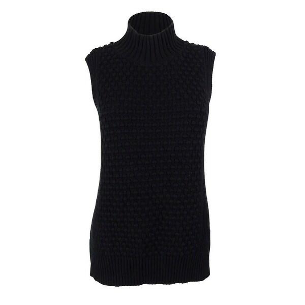 Vince Camuto Women's Mock Neck Sweater - Rich Black - S