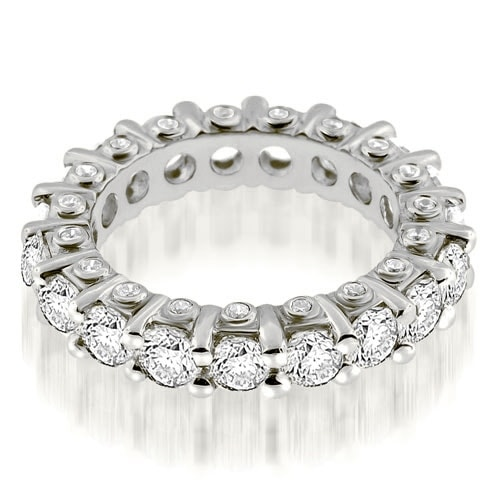 3.23 cttw. 14K White Gold Stylish Round Cut Diamond Eternity Band Ring