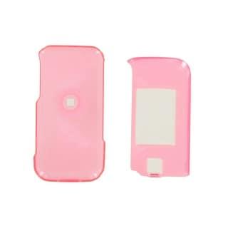 Samsung U750 Alias 2 Plastic Snap-On Case Front/Back (Neon Pink)
