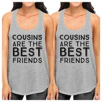Cousins The Best Friends Grey Family Matching Tank Tops For Cousins
