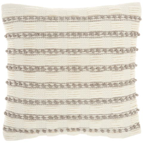 "Mina Victory Life Styles Lt Grey Throw Pillow , ( 18""X18"" )"