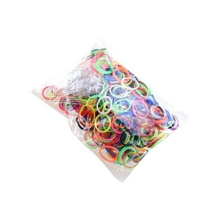 """Colorful Silicone LOOM BANDS - 600PCS Bands & 25 """"S"""" Clips Refill Kit Rainbow LOOM Bracelets latex"""