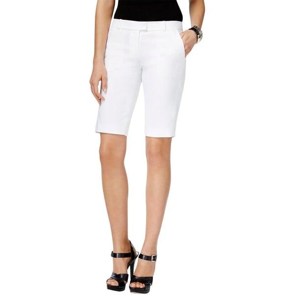 MICHAEL Michael Kors Womens Bermuda Shorts Woven Flat Front
