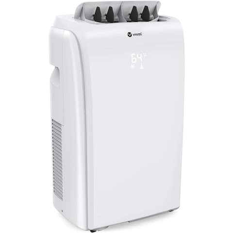 0,000 BTU Portable Air Conditioner - Conveniently Cools Rooms 200 to 350 Square Feet - LED Display - White