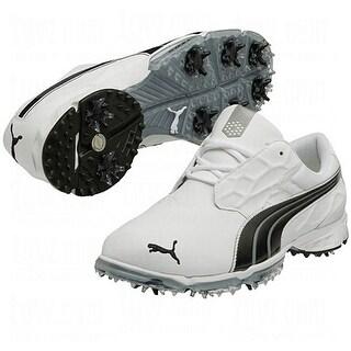 Puma Men's Biofusion Lite White/Black Golf Shoes 187091-02