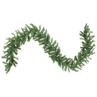 "9' x 12"" Pre-Lit Green Canadian Pine Artificial Christmas Garland - Multi Lights"