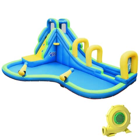 "Inflatable Water Slide Kids Bounce House Castle - multi - 188"" x 144"" x 95.5"" ( L x W x H)"