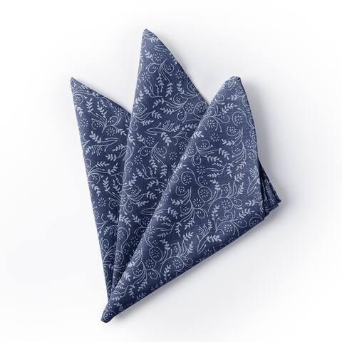 Jacob Alexander Men's Floral Pocket Square Handkerchief - Regular