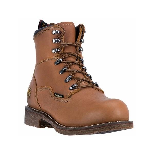 Dan Post Work Boots Mens Detour ST Lace WP Leather Brown