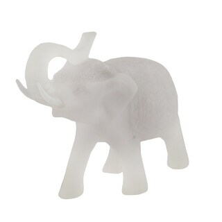 Clear Frosted Decorative Elephant Statue