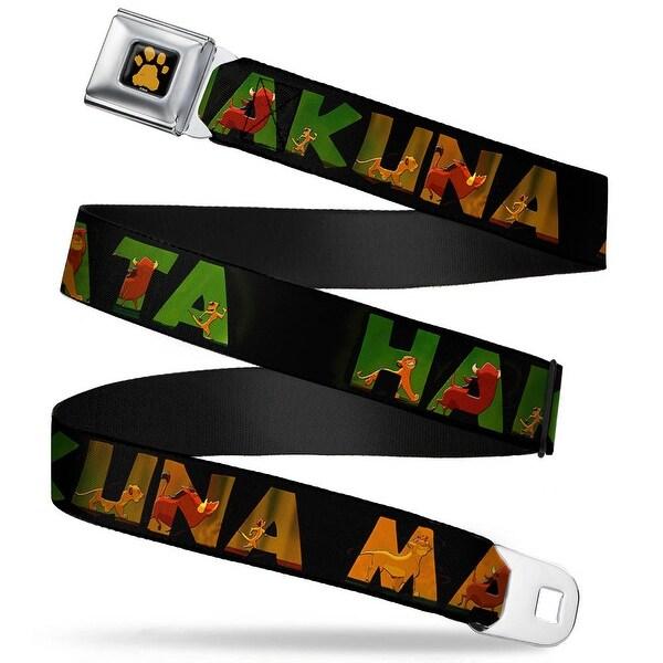 Lion King Paw Full Color Black Gold Hakuna Matata Black Lion King Scenes Seatbelt Belt