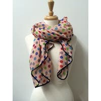 Women's Lightweight Polka dots Printed Soft Large Wrap Scarves