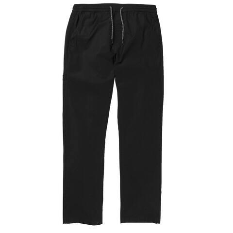 Volcom Boys Pants Deep Black Size XL Drawstring Pull-On Straight Leg