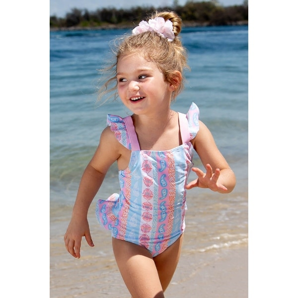 Sun Emporium Arabella Print One-Piece Frill Swimsuit Baby Girls - 12-18 Months