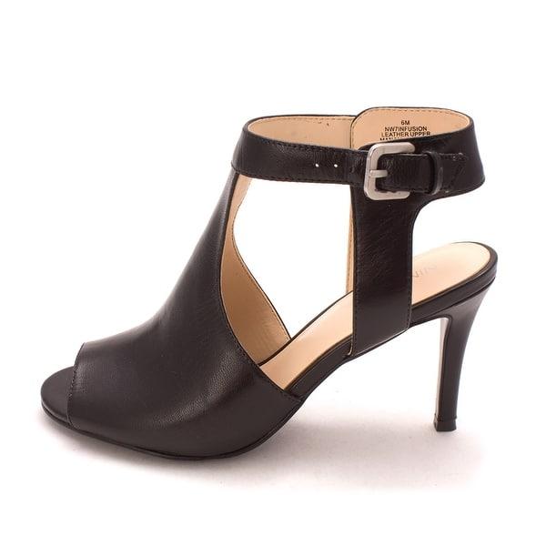 9cfbe3e41c Bandolino Womens infusion Leather Peep Toe Casual Slingback Sandals - 6