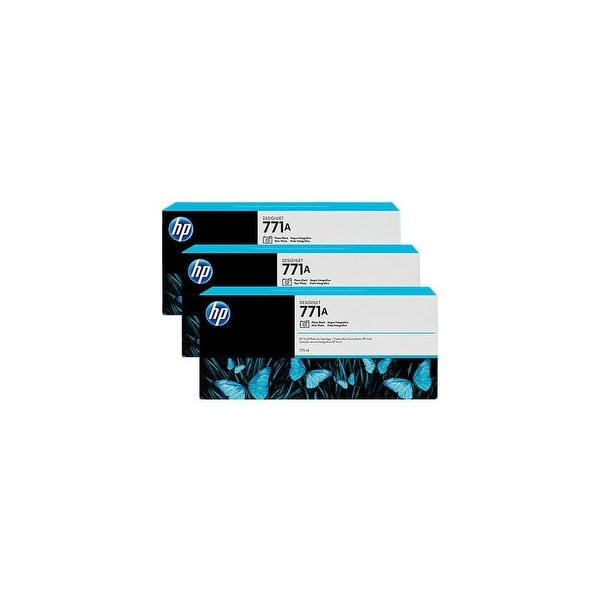 HP 771A 3-pack 775-ml Photo Black DesignJet Ink Cartridges (B6Y45A) (Single Pack)