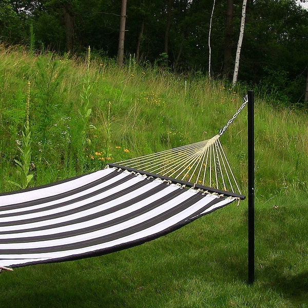 Sunnydaze Removable In Ground Hammock Post 52 Inch Tall Installed