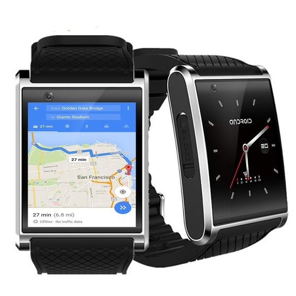 Indigi® NEW 2018 Android 5.1 OS Watch & 3G Unlocked Phone + WiFi + Bluetooth 4.0 + GPS + Google Play + Bluetooth Bundle
