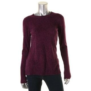 Aqua Womens Cashmere Heathered Pullover Sweater