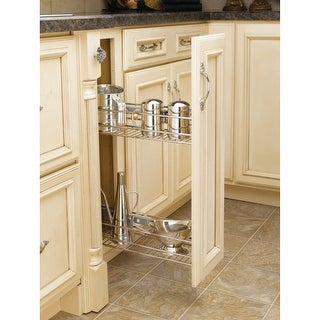 """Rev-A-Shelf 548-06 548 Series 5.5"""" Wide Two Tier Pull Out Base Organizer for 9"""" Base Cabinet"""